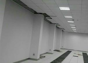 吊顶+静电地板